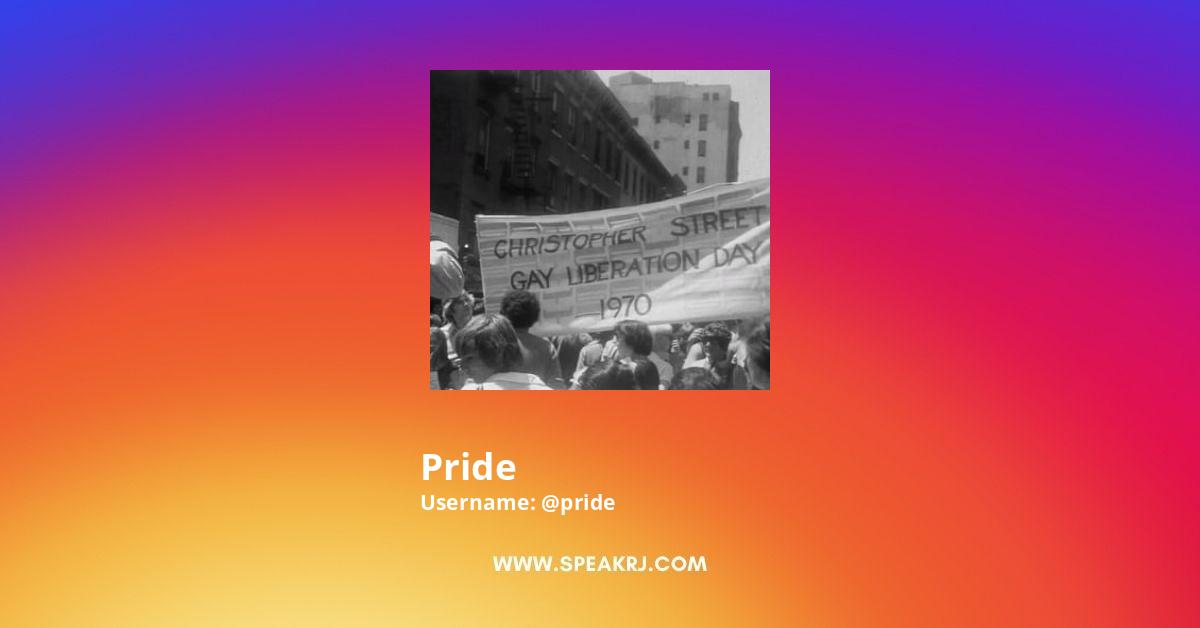 Pride Instagram Stats