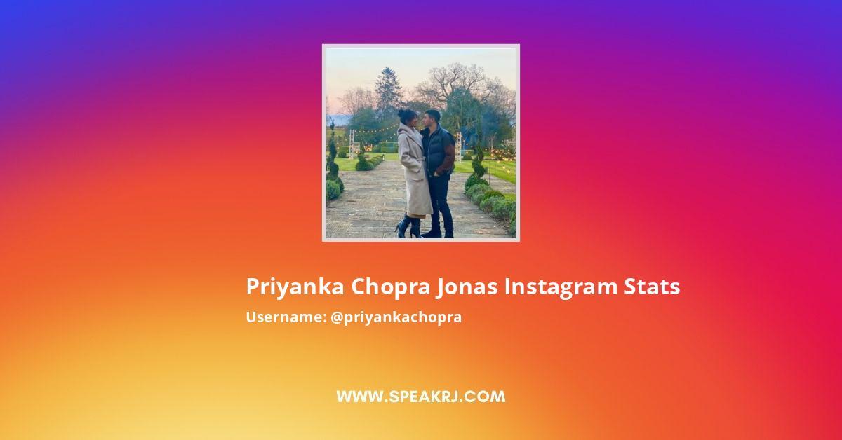 Priyanka Chopra Jonas Instagram Stats