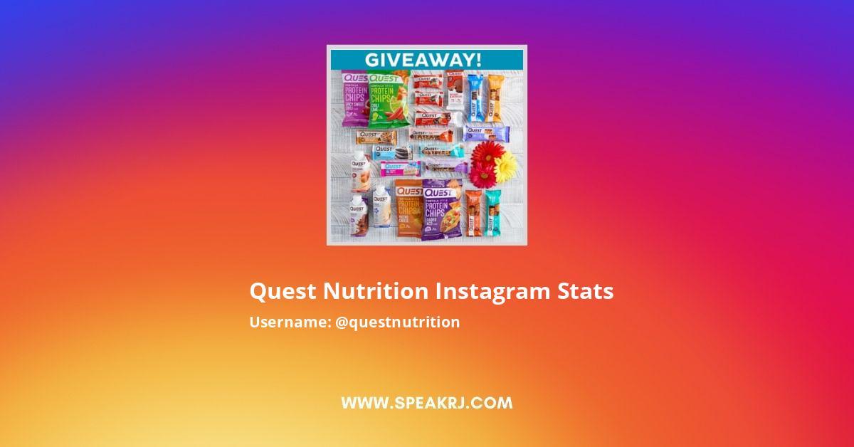 Quest Nutrition Instagram Stats