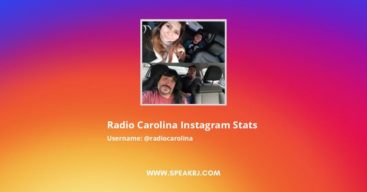 Radio Carolina Instagram Stats