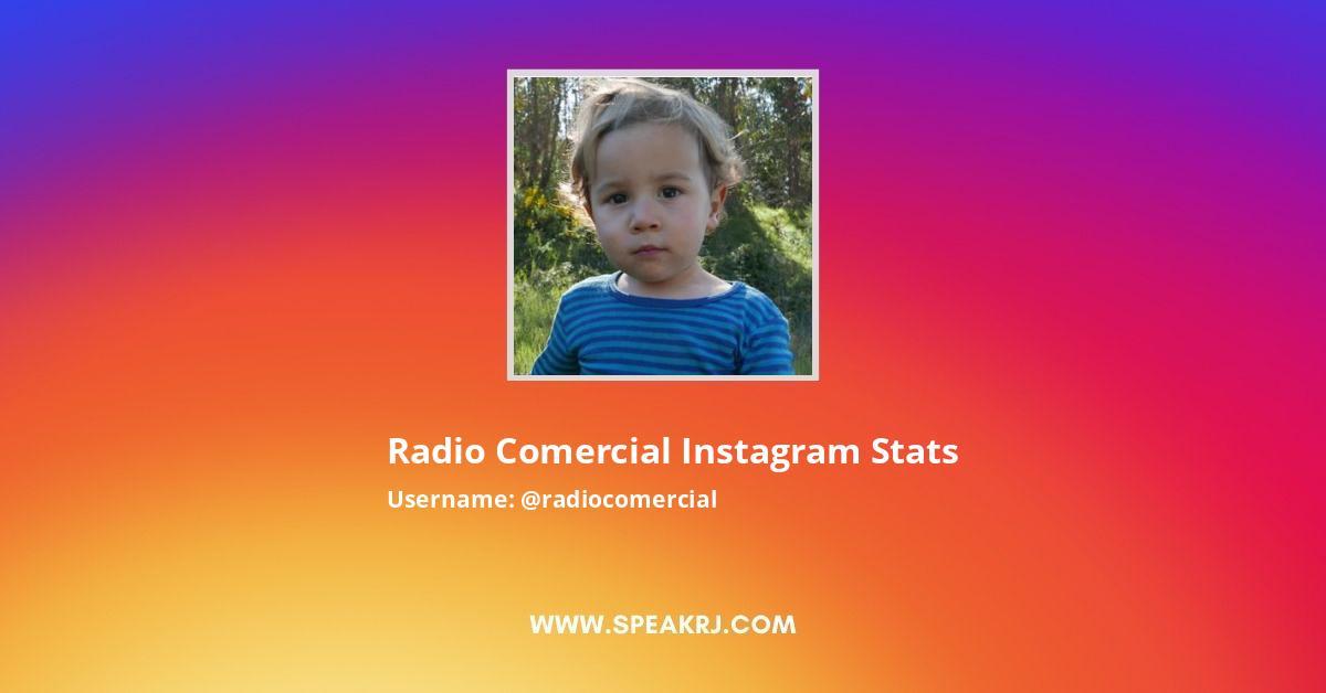 Radiocomercial Instagram Stats