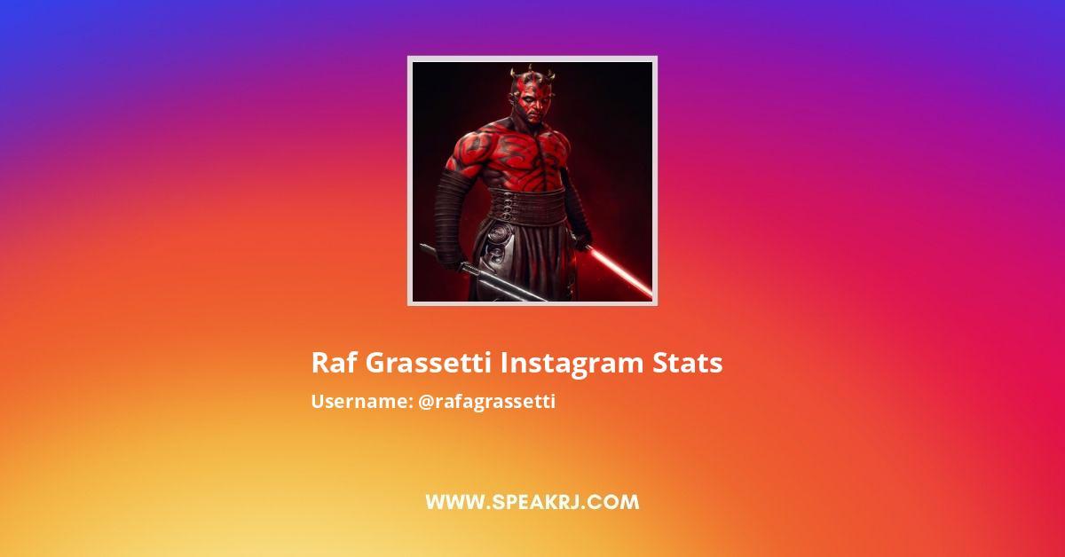 Raf Grassetti Instagram Stats
