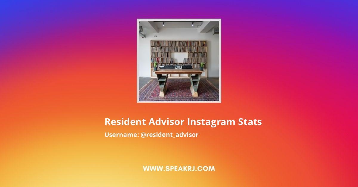 Resident Advisor Instagram Stats