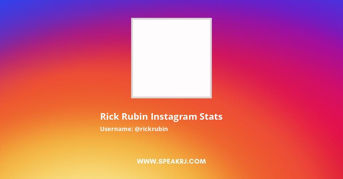 Rick Rubin Instagram Stats