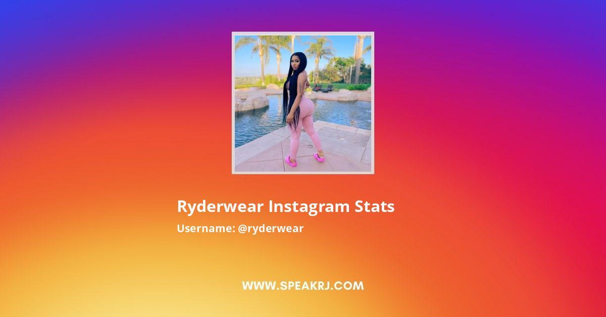 Ryderwear Instagram Stats