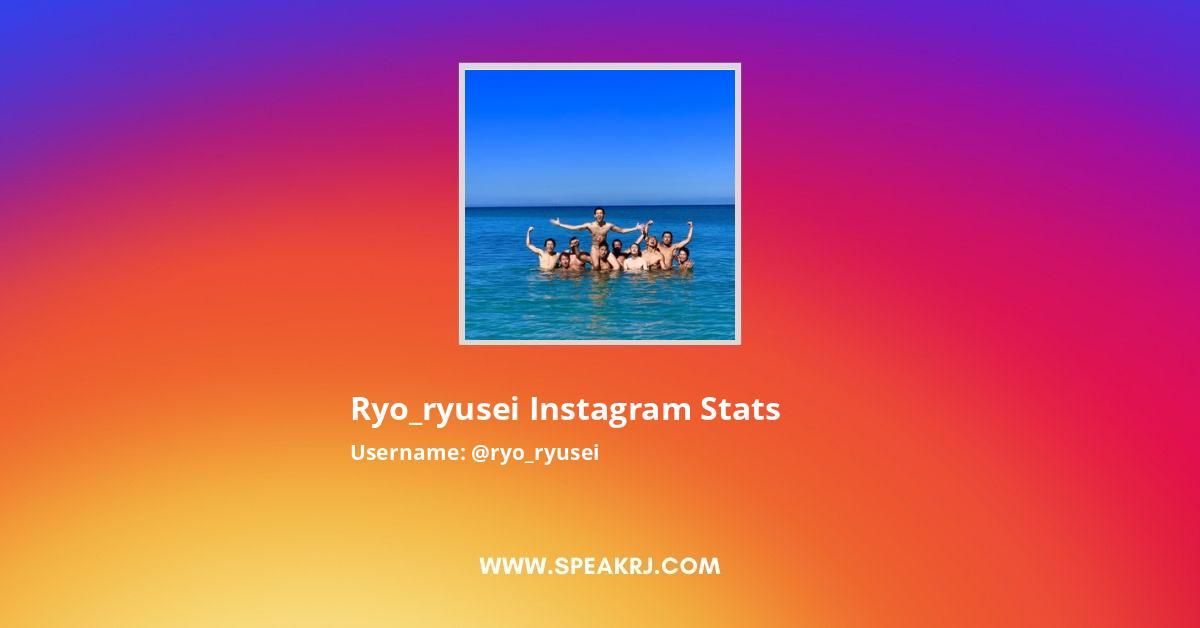 Ryo_ryusei Instagram Stats