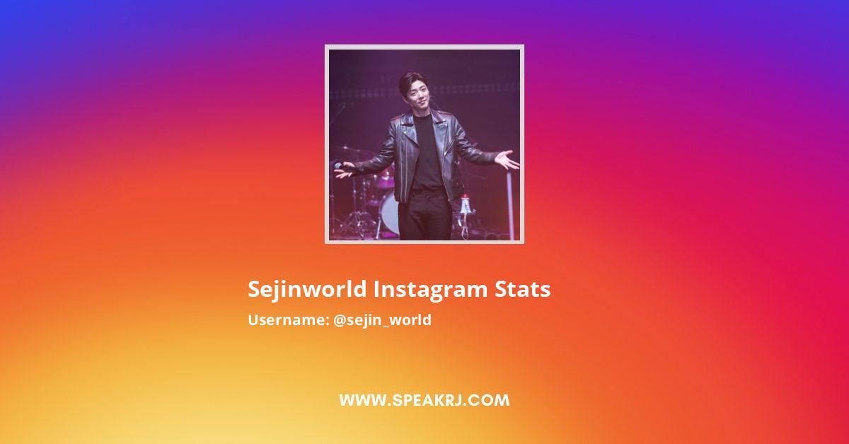 Sejin_world Instagram Stats
