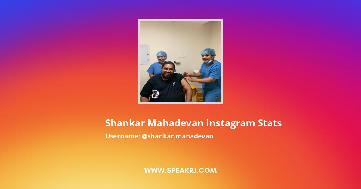 Shankar Mahadevan Instagram Stats