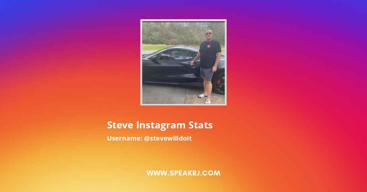 Steve Instagram Followers Statistics Analytics Speakrj Tell steve anything and he will do it! steve instagram followers statistics
