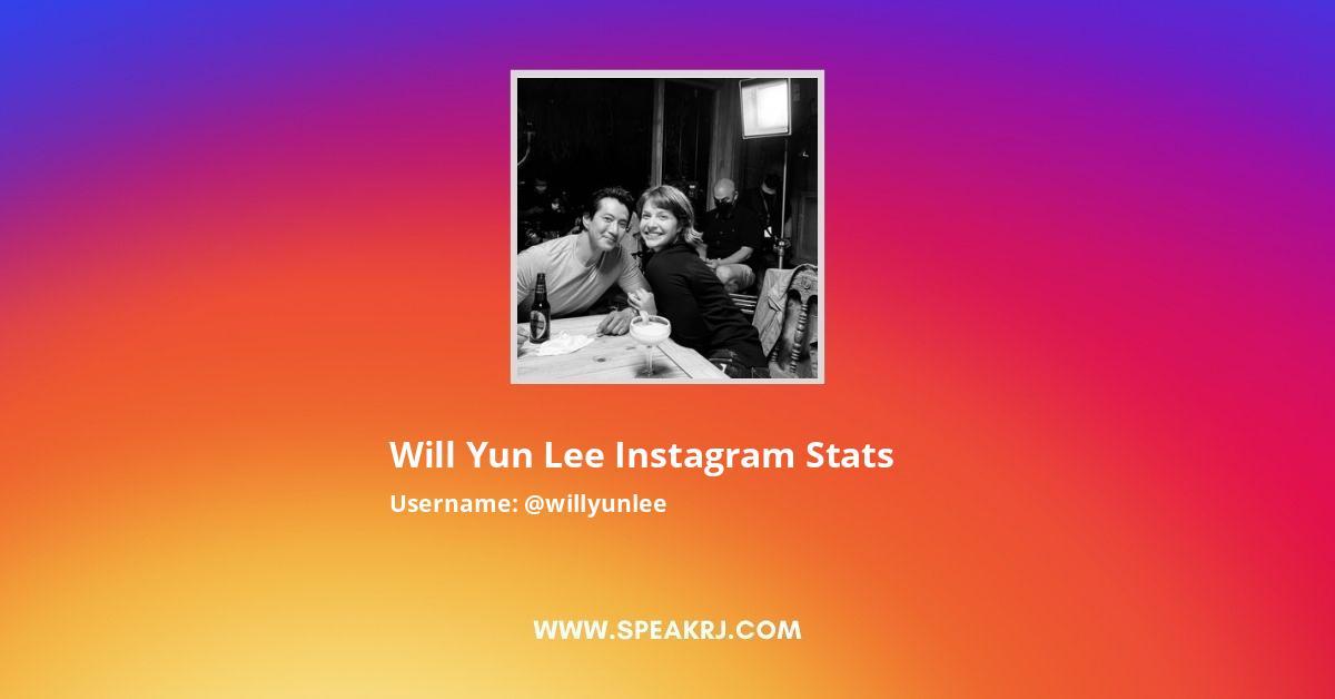 Will Yun Lee Instagram Stats