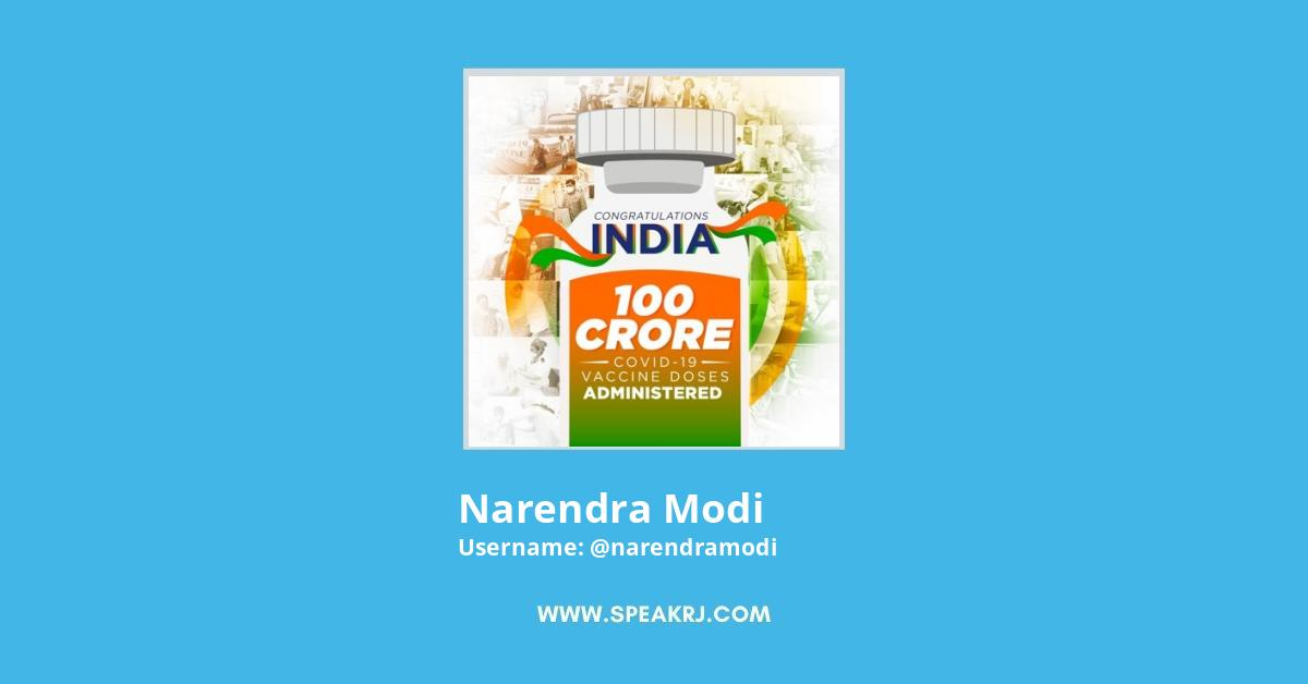 Narendra Modi Twitter Followers Growth