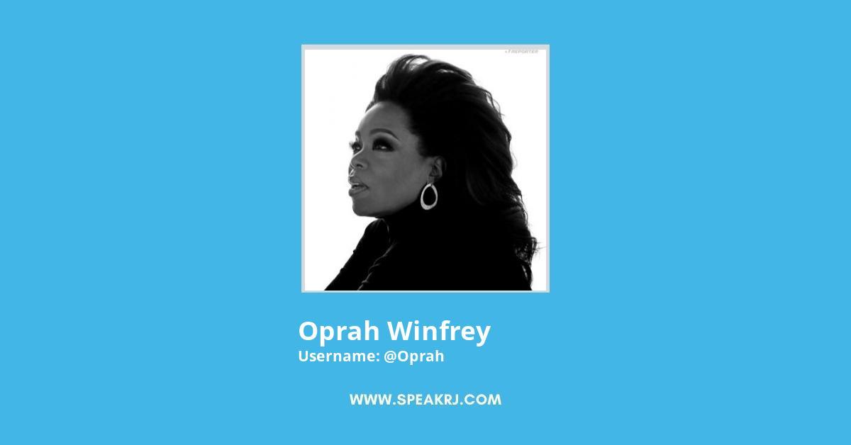 Oprah Winfrey Twitter Followers Growth