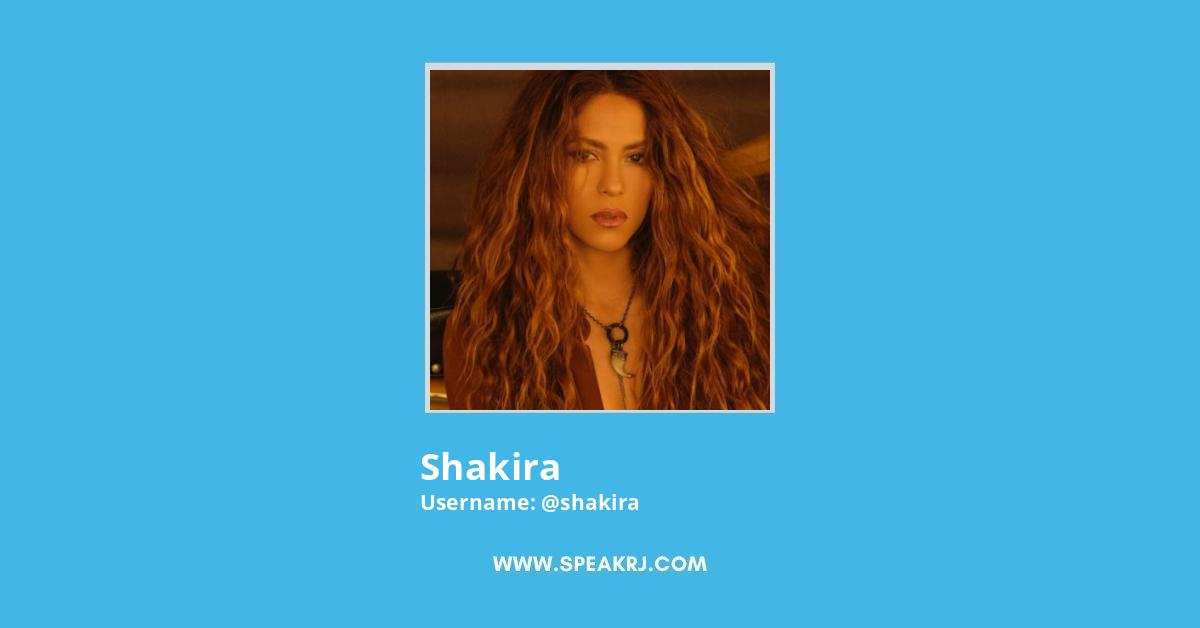 Shakira Twitter Followers Growth