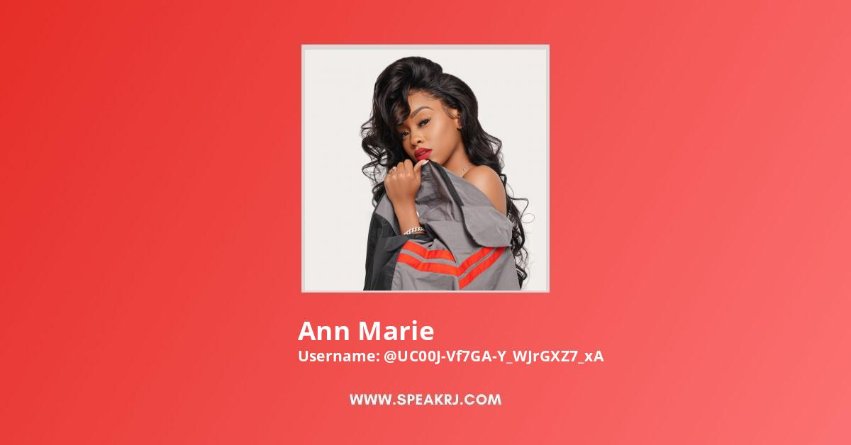 Ann Marie YouTube Channel Stats