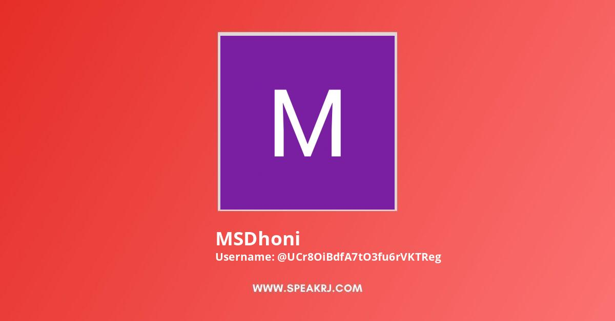 MSDhoni Youtube Subscribers Growth