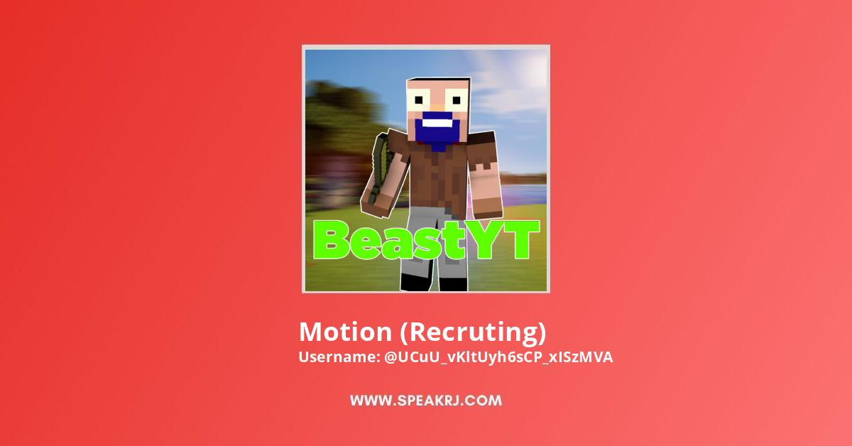 Motion (Recruting) Youtube Subscribers Growth
